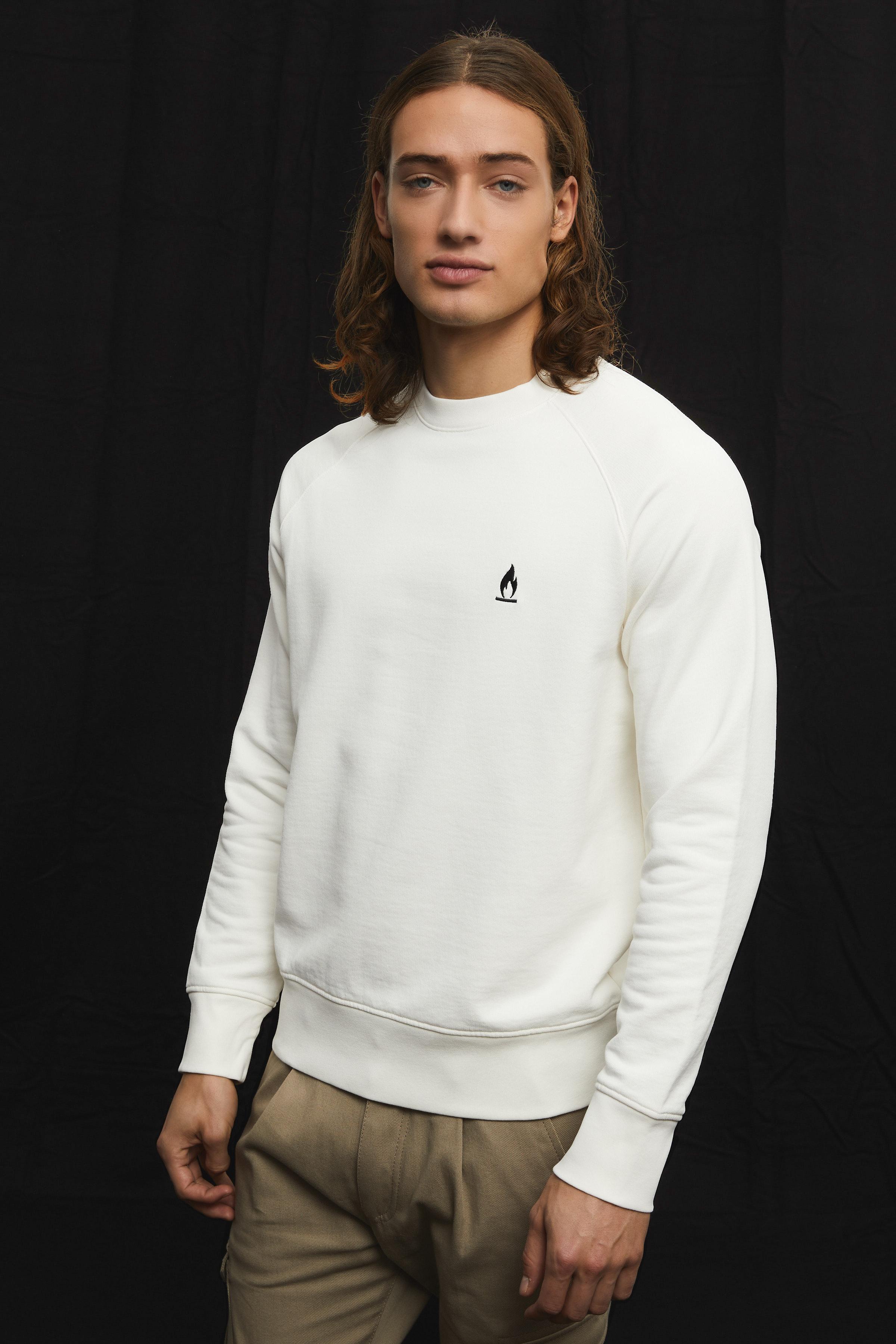 Herren Sweatshirt mit Flammen-Stickerei FLORENZ_24 online ...